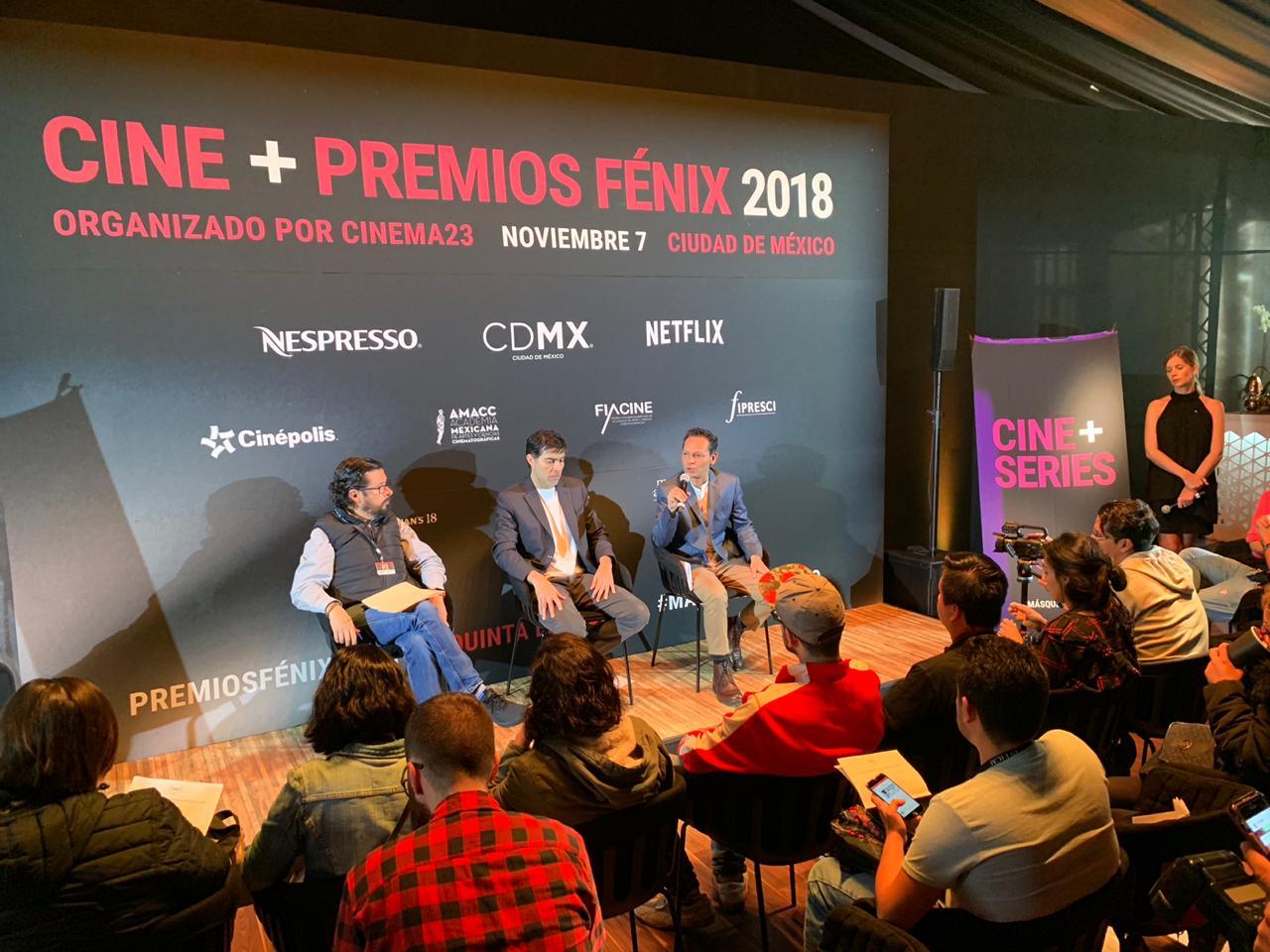 Anuncio del ganador al Premio Fénix a la Labor Cinematográfica