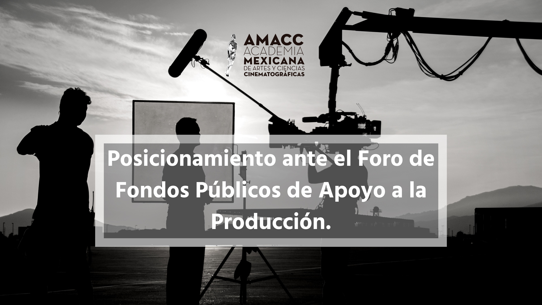 Posicionamiento ante el Foro de Fondos Públicos de Apoyo a la Producción.