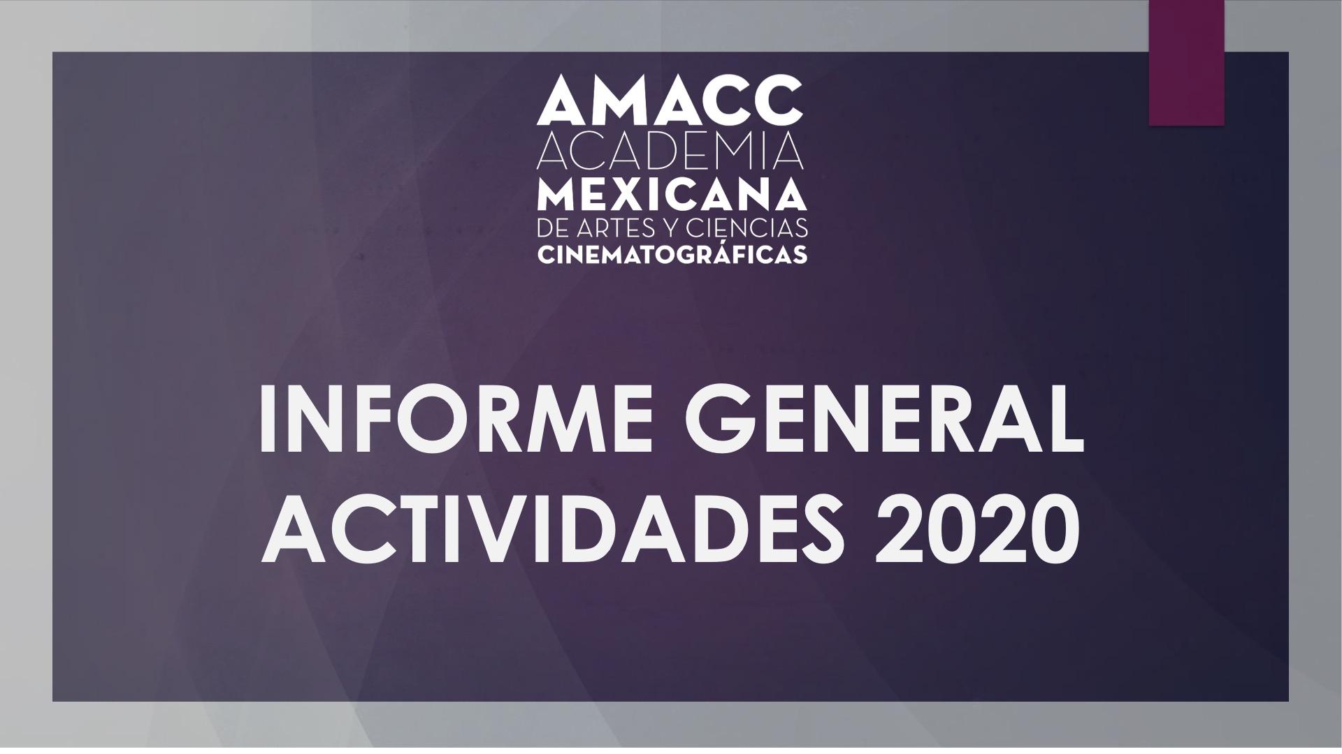 INFORME GENERAL DE ACTIVIDADES 2020