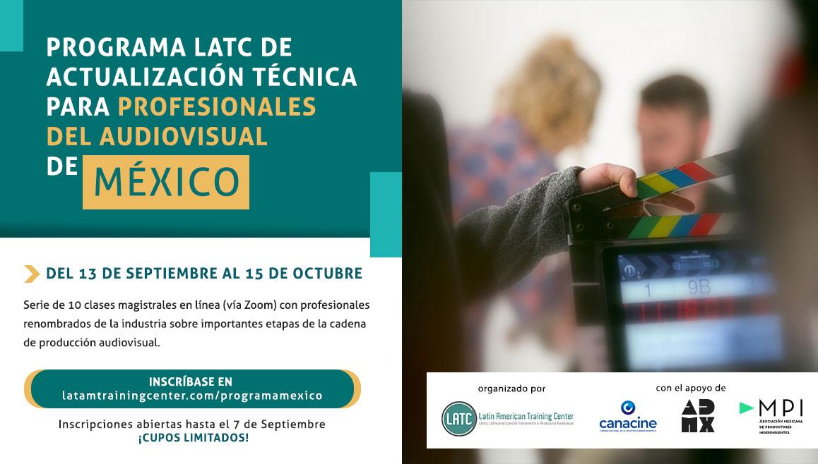 Inscripciones abiertas para el Programa LATC de Actualización Técnica para Profesionales del Audiovisual de México